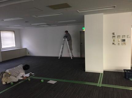 渋谷 間仕切工事1