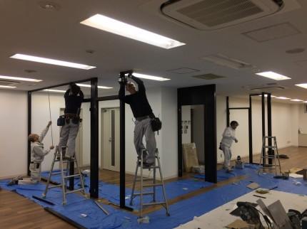 渋谷 間仕切工事5
