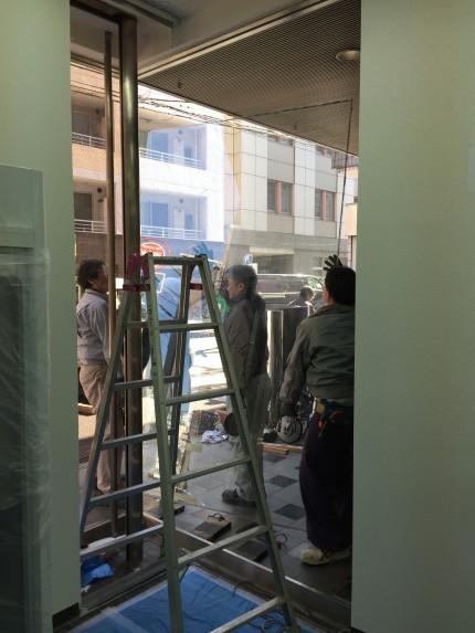 岩本町 倉庫 間仕切解組 ガラス補修工事⑨
